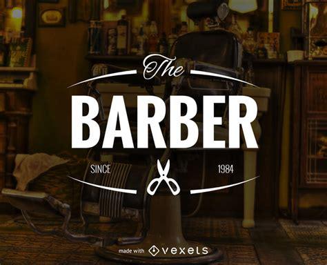 barber shop logo label maker editable design