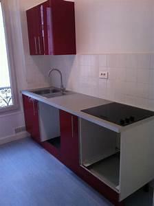 meuble coin cuisine cuisine sans meuble du0027angle darty With fixer un meuble de cuisine au mur