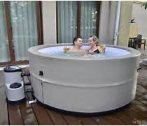 Grand Oasis Energy Efficient Portable Hot Tub Spa Hot Tub Installation Our Tubs Sit On A Concrete Slab Natural Cedar Hot Tubs For Outdoors Digsdigs Outdoor Hot Tubs Guide To Buying And Owning A Hot Tub H2o Swimming Pools