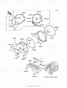 Kawasaki Motorcycle 1999 Oem Parts Diagram For Left Engine