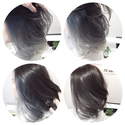 Cool Silver Grey Tone For Asian Hair Ombre Balayage