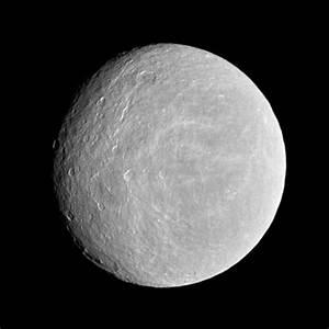 Tenuous Oxygen Atmosphere Found Around Saturn's Moon Rhea