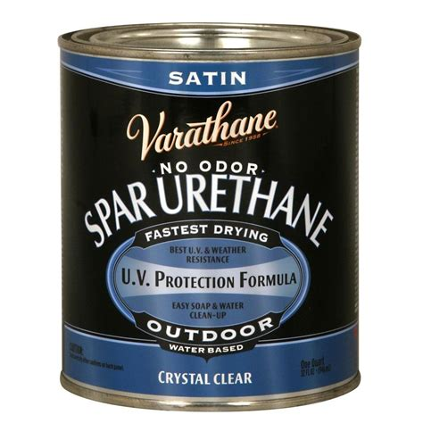 Varathane 1 Qt Clear Semigloss Waterbased Outdoor Spar