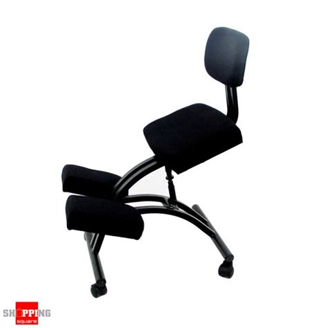 ergonomic adjustable office kneeling chair with backrest