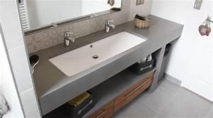meuble salle de bain une vasque avec deux robinets With difference entre meuble et non meuble