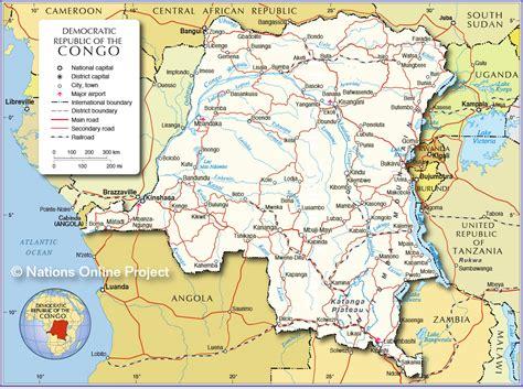 Democratic Republic of Congo Mountains Maps