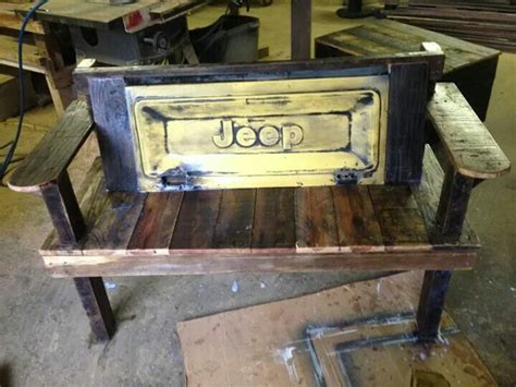 custom jeep tailgate bench  sale  diy projects