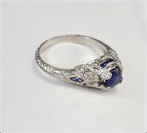 antique deco engagement rings antique deco ring platinum engagement ring sapphire jewelry vintage 1920s