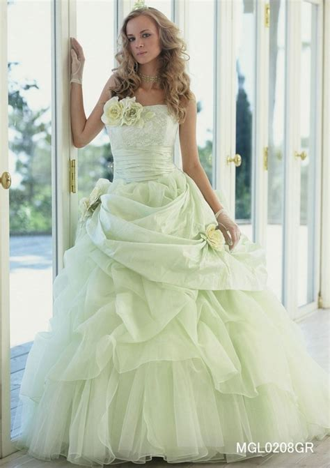 top   ideas colors green  white wedding dress