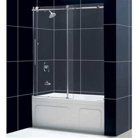 home depot bathtub doors dreamline enigma x 59 in x 62 in frameless sliding tub