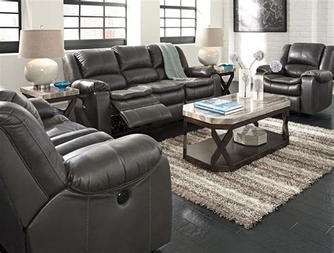 Furniture Loveseat Recliners by Gray Power Reclining Living Room Set From