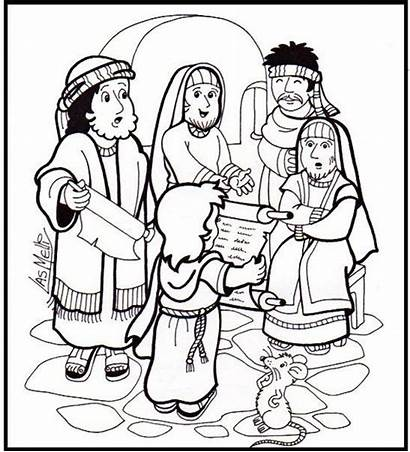 Bible Jesus Temple Activities Sunday Crafts Coloring
