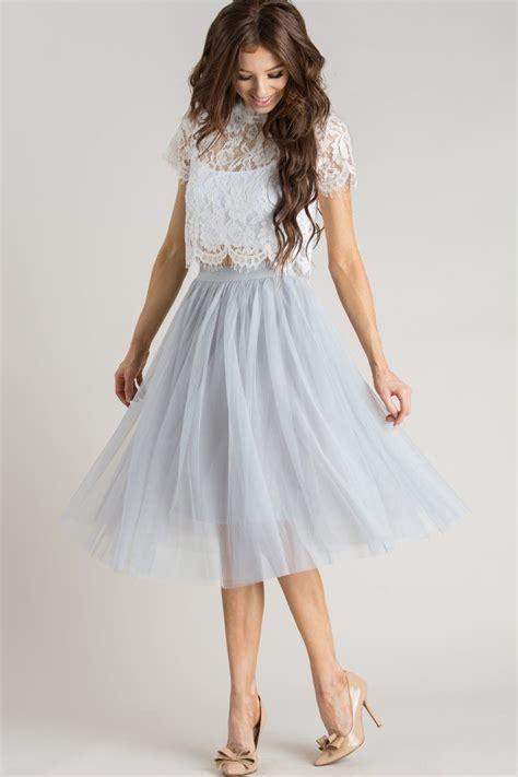 Morning Skirt eloise grey tulle midi skirt morning lavender