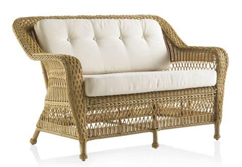 Canapé de jardin 2 places en résine tressée miel Brin d