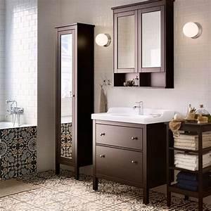 Hochschrank Mit Schubladen : ein badezimmer mit hemnes waschbeckenschrank mit 2 schubladen schwarzbraun gebeizt r ttviken ~ Orissabook.com Haus und Dekorationen