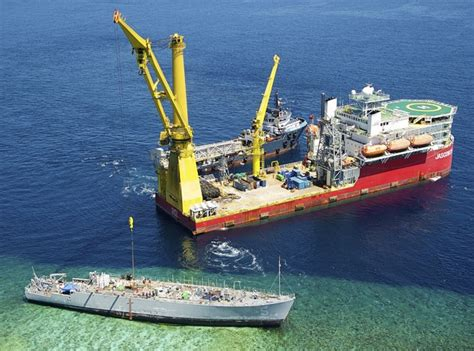 Ship Ex by Photo Of The Day Ex Uss Guardian Wreck Removal Continues