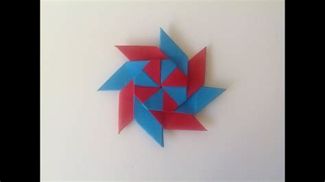 origami transforming ninja star youtube
