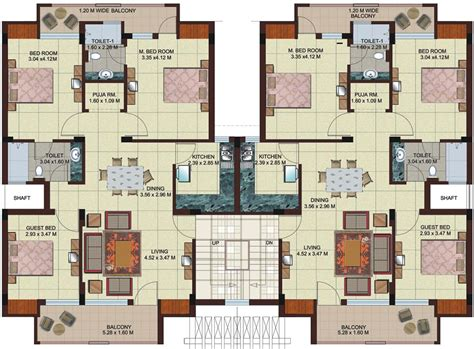 3 Bedroom Apartment Floor Plans by Architectural Evaluation Right Choice Ashiyana
