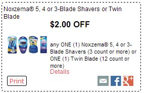noxzema shavers coupons