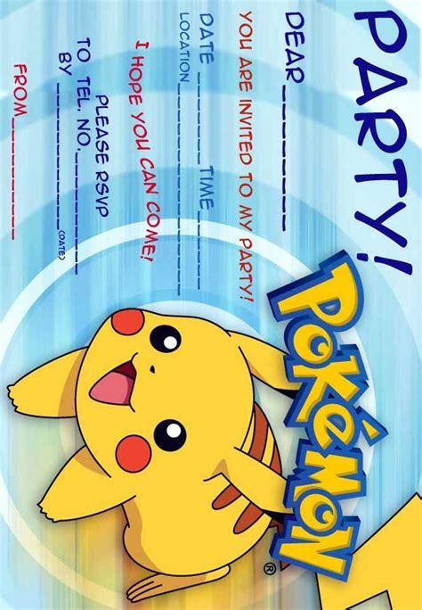 12 Superb Pokemon Birthday Invitations | Kitty Baby Love