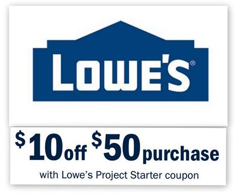 98466 11 Lowes Coupon by Lowes 10 50 Entire Purchase Printable Coupon