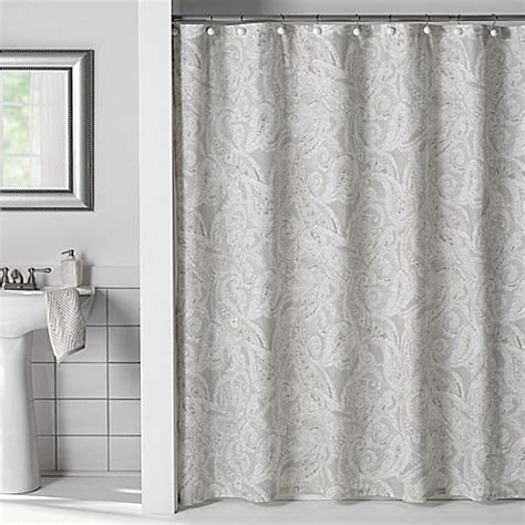 linens shower curtains flatiron linen paisley shower curtain bed bath beyond