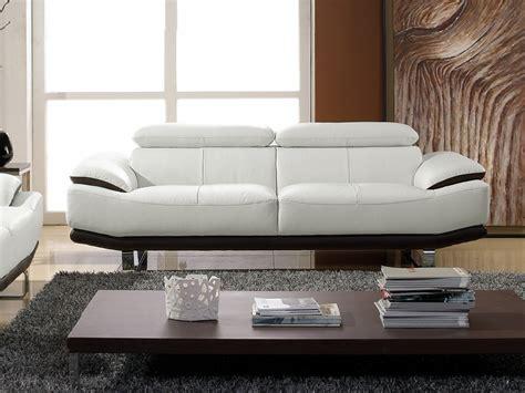canapé 3 places cuir blanc canape cuir noir et blanc hoze home