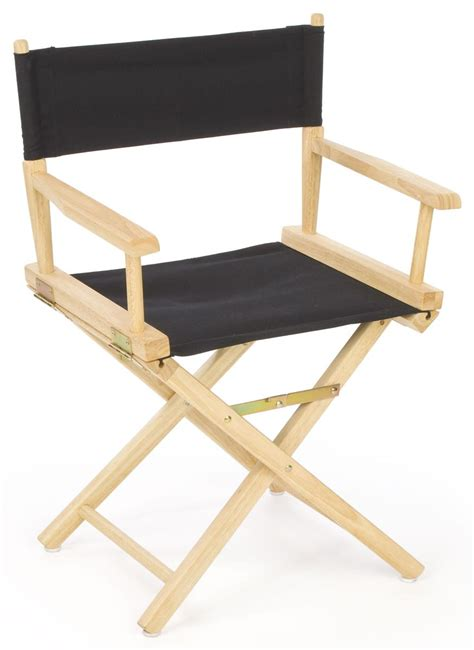 folding director s chair 33 quot wooden with black canvas seat