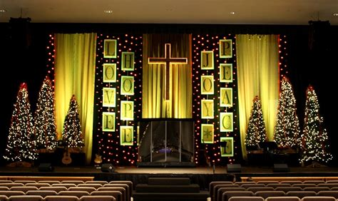 lines  christmas text church stage design ideas
