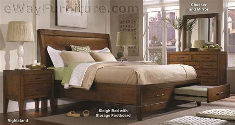 Bombay Storage Sleigh Bed Bedroom Set