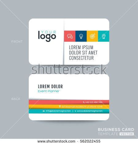 clean  simple business card namecard design  color