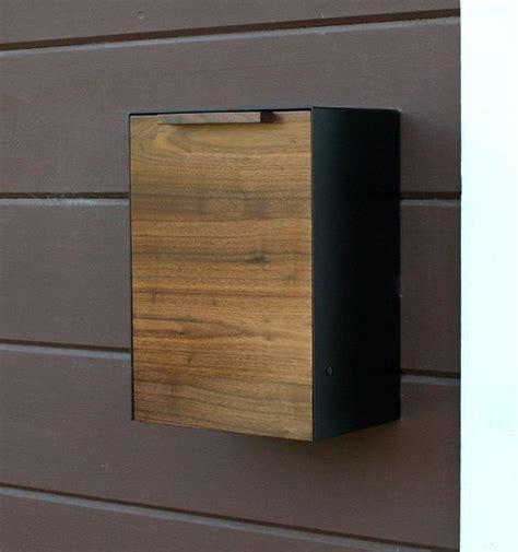 Briefkasten Modern Design by Modern Mailbox Walnut Wall Mounted Mailbox Narrow Size