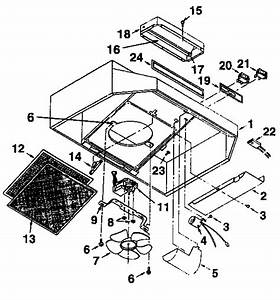 Range Hood Diagram  U0026 Parts List For Model 2335108911