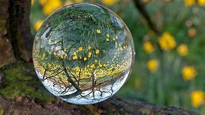 Glass Reflection Ball Wallpapers Transparent