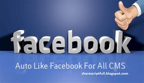 Auto Like Facebook For All Cms  Share Theme Free