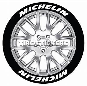 michelin tire lettering tire stickers With white letter decals