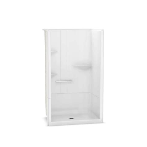 Maax Shower Stalls Installation - maax camelia 48 in x 34 in x 79 in alcove shower stall