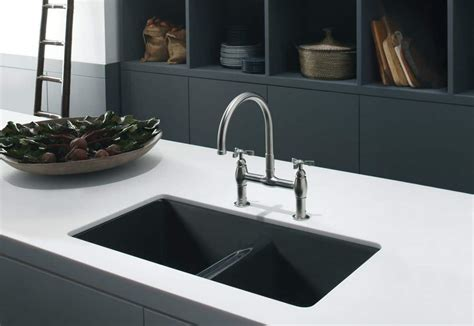white undermount kitchen sinks kitchen with white countertops and composite sink 1481