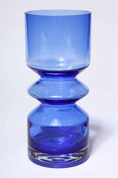 cobalt blue vases pair of cobalt blue glass vases at 1stdibs