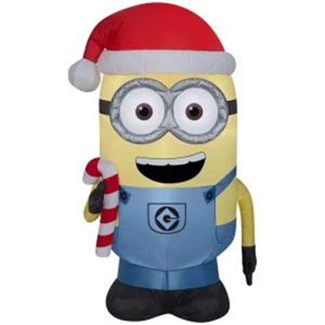 inflatable airblown minion dave  candy cane
