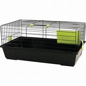 Cage A Cochon D Inde : cage pour lapin ou cochon d 39 inde bunny 80 cm noire ~ Dallasstarsshop.com Idées de Décoration