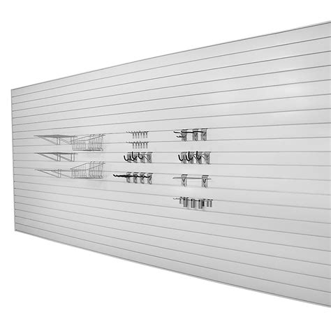 Garage Wall Systems by Proslat Slatwall 192 Sq Ft Garage Wall Storage System