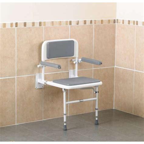 siege salle de bain siège de avec dossier et accoudoirs pour personnes
