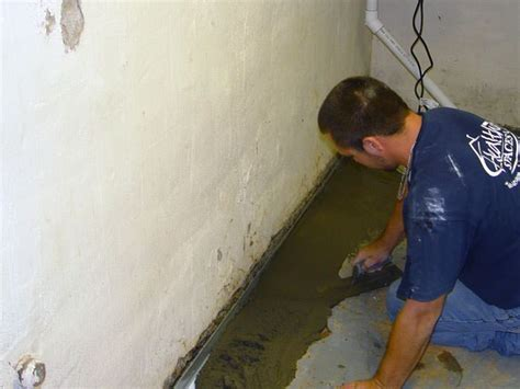 Thin Floor French Drain System in Louisville, Lexington