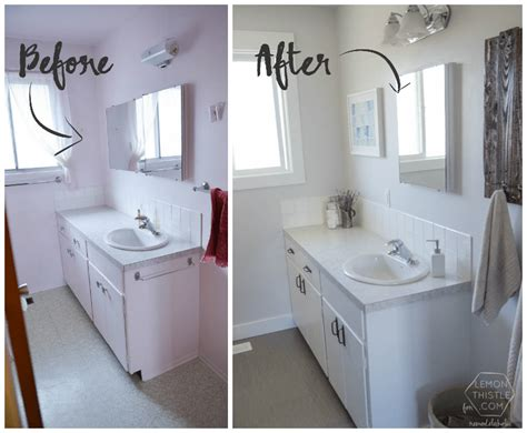 Bathroom Remodeling Ideas On A Budget by Remodelaholic Diy Bathroom Remodel On A Budget And