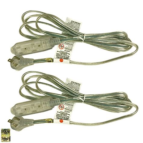 clear silver l cord royal designs clear silver extension cord 12 39 3 prong 18