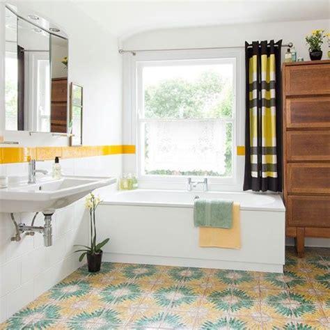 retro yellow bathroom tile ideas  pictures