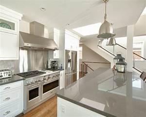 White Cabinet Gray Countertop Home Design Ideas, Pictures ...