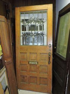 antique interior exterior oak french swinging door beveled glass lites home