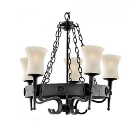 wrought iron 5 light cartwheel chandelier rustic